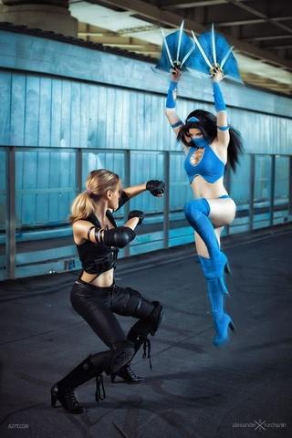 Kitana by anastasya zelenova (Mortal Kombat) cosplay 29