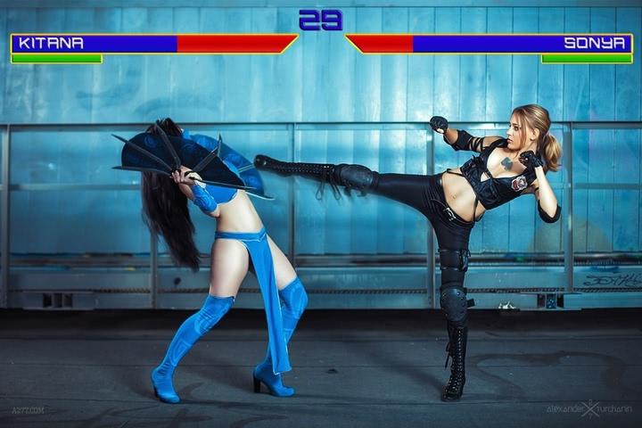 Kitana by anastasya zelenova (Mortal Kombat) cosplay 30