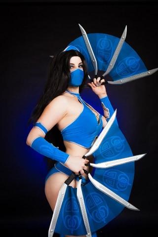 Kitana by anastasya zelenova (Mortal Kombat) cosplay 38