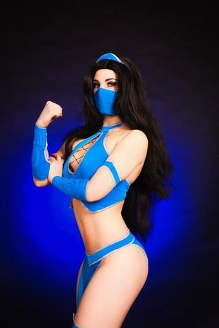 Kitana by anastasya zelenova (Mortal Kombat) cosplay 39