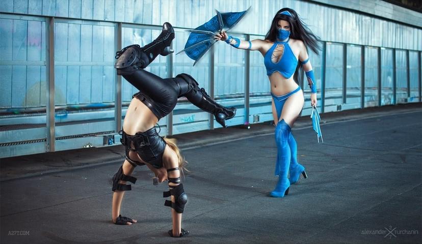 Kitana by anastasya zelenova (Mortal Kombat) cosplay 32