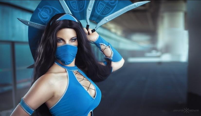 Kitana by anastasya zelenova (Mortal Kombat) cosplay 27
