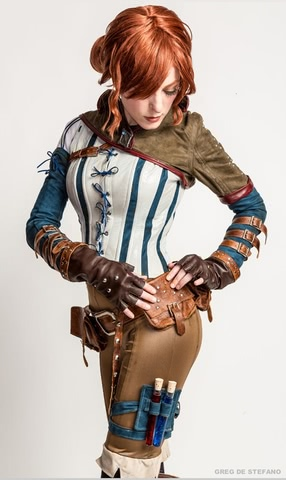 Triss by Jessica Dru (The witcher 3) cosplay 3