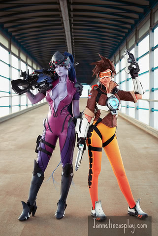 widowmaker by janetcosplay (Overwatch) cosplay 3