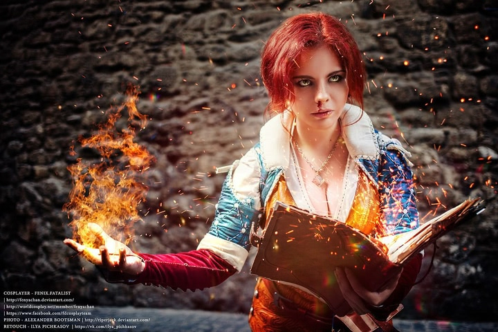 Triss by Fenix Fatalist (Witcher 3) cosplay 12