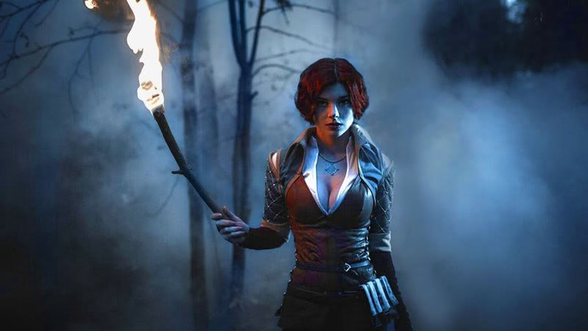 Triss by mellu (Witcher 3) cosplay 3