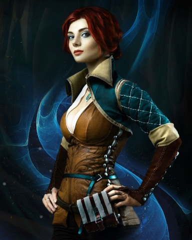 Triss by mellu (Witcher 3) cosplay 9