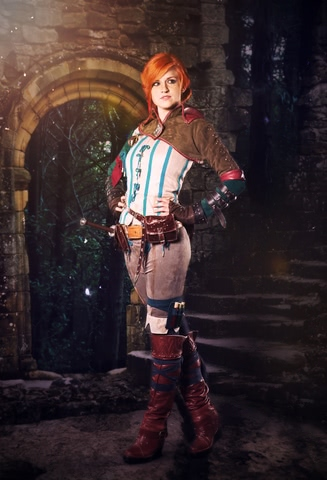 Triss by MadameSkunk (Witcher 3) cosplay 2
