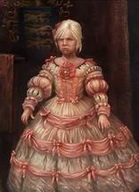 Юная Цирилла в розовом платье